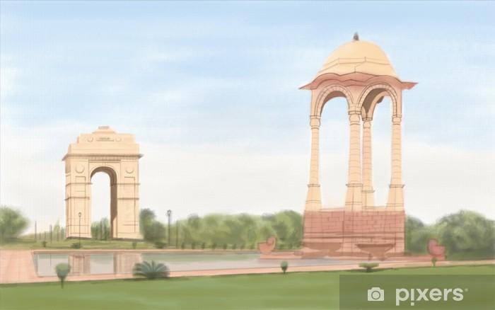 Naklejka Pixerstick India Gate - Budynki użyteczności publicznej