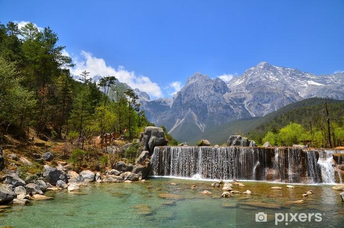 Nálepka Pixerstick Údolí Alpine Mountain - Roční období