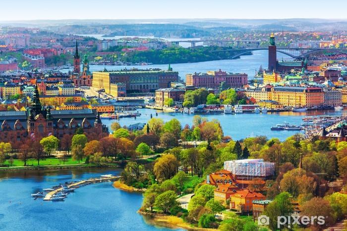 Fototapeta winylowa Aerial panorama w Sztokholmie, Szwecja - Europa