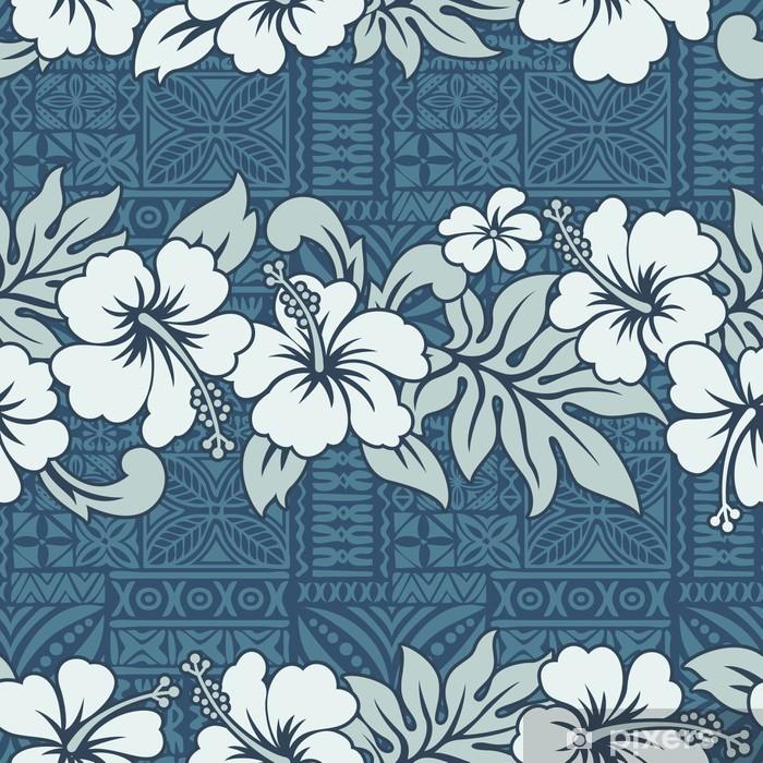 Papier peint vinyle Papier peint traditionnel hawaïen - vecteur, seamless - Océanie
