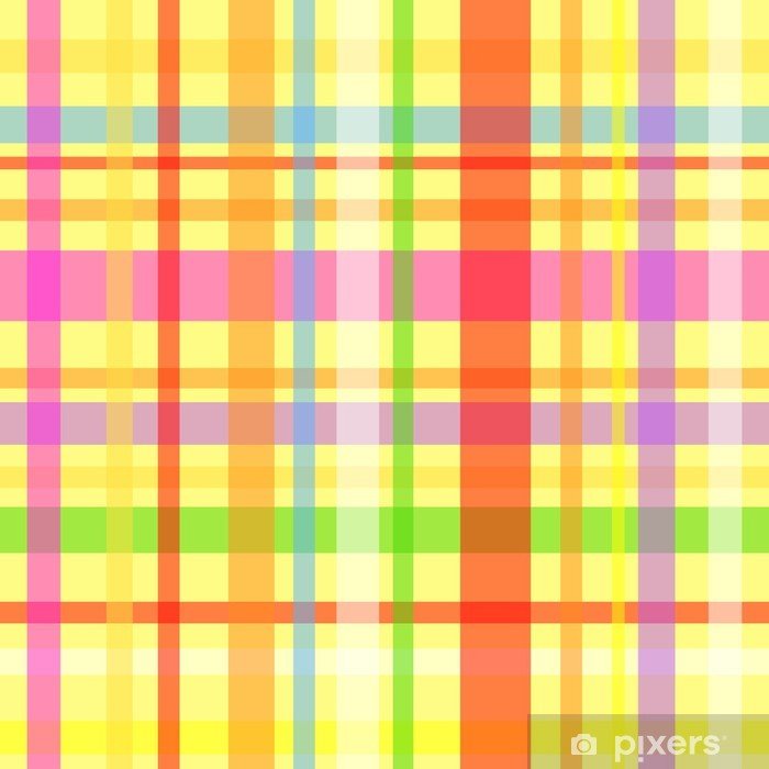 Seamless plaid pattern-yellow Vinyl Wall Mural - Backgrounds