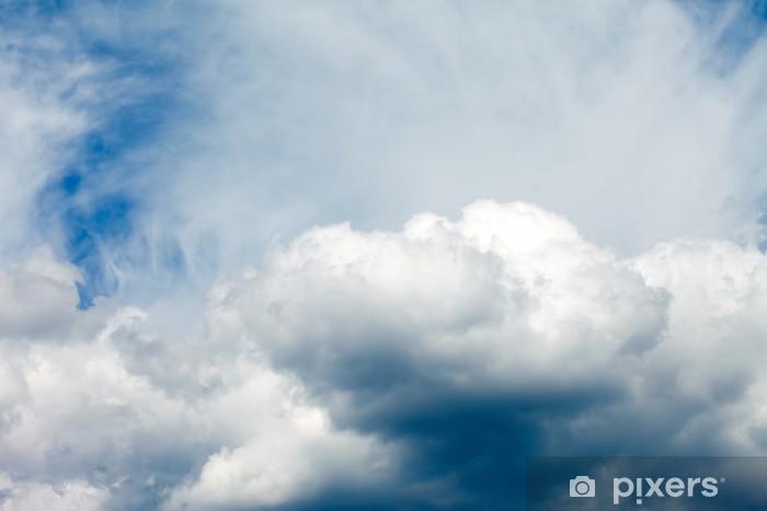 Naklejka Pixerstick Chmury na błękitnym niebie - Niebo