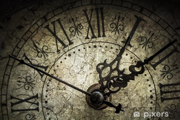Sticker Pixerstick Horloge antique - Horloges