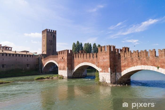Castle Vecchio in Verona Vinyl Wall Mural - Europe