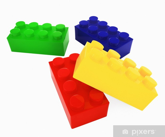 Fototapeta winylowa Lego color block - Gry