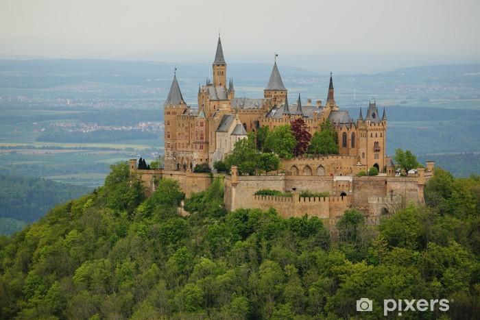 Sticker Pixerstick Voir sur le château de Hohenzollern au printemps - Thèmes