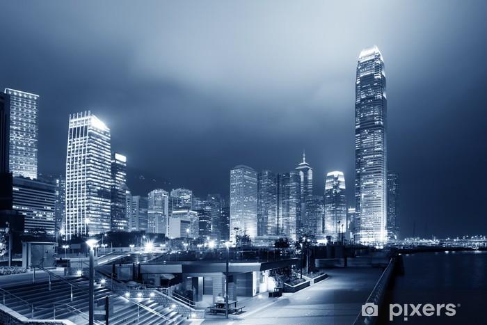 Fototapeta winylowa Nowoczesne miasto nocą - Azja