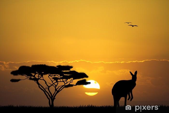 Papier peint vinyle Kangourou dans le paysage australien - Mammifères