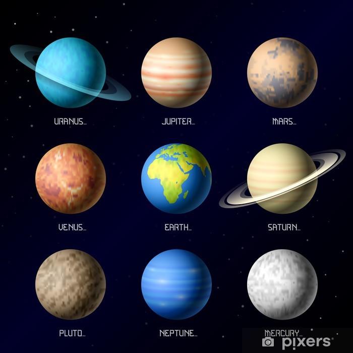Fotomural Estándar Los planetas del Sistema Solar - Destinos