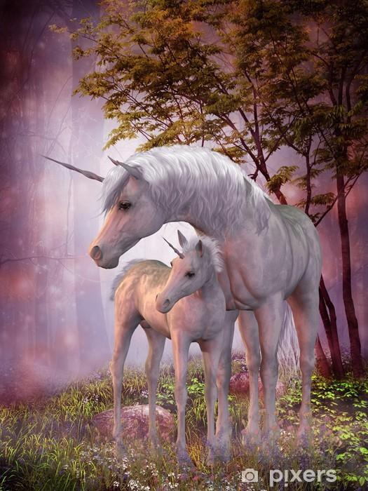 Unicorn Mare og Foal Laptop Klistermærke -