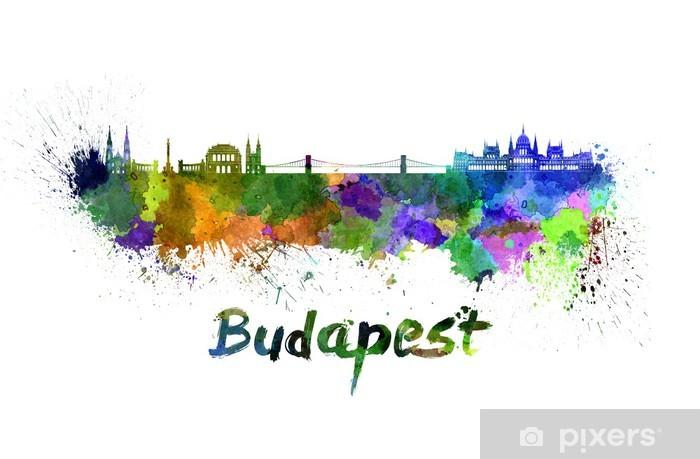 Naklejka Pixerstick Budapeszt skyline w akwareli - Europa