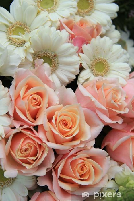 Fototapete Rosen Und Gerbera Hochzeitsblumen Pixers Wir Leben