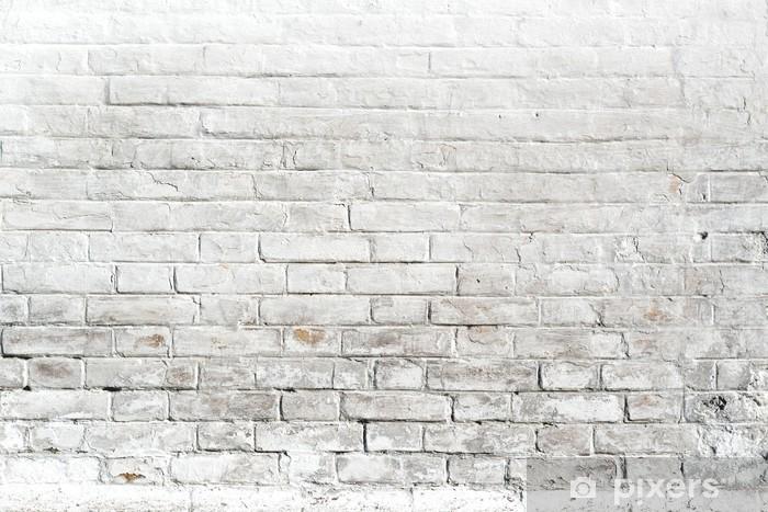 Fotomural Estándar Pared de ladrillo blanco para el fondo o la textura - Temas