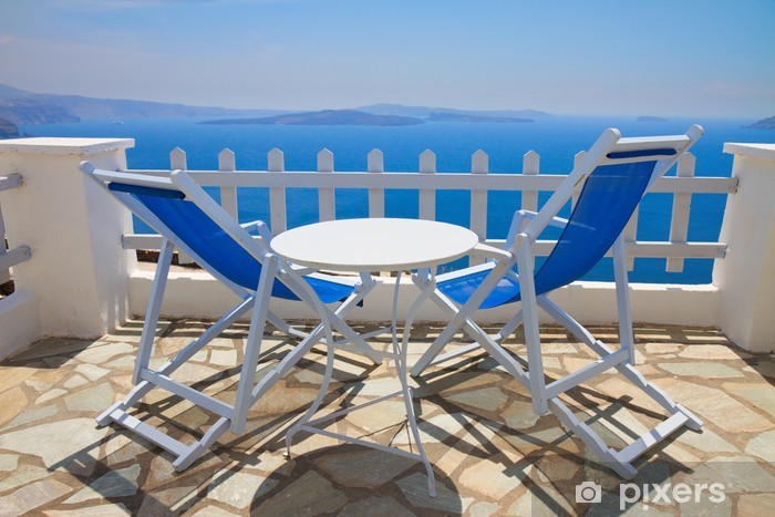 Naklejka Pixerstick Caldera Santorini Grecja - Europa