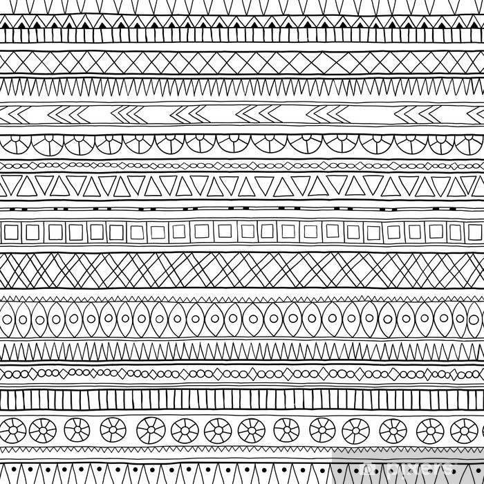 Pixerstick Sticker Originele tribal doddle etnisch patroon. - Stijlen