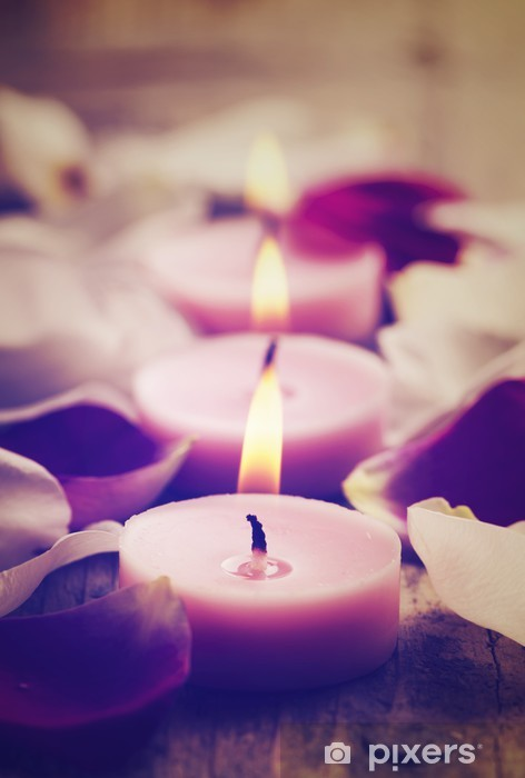 Spa Candles Pixerstick Sticker - Lifestyle>Body Care and Beauty