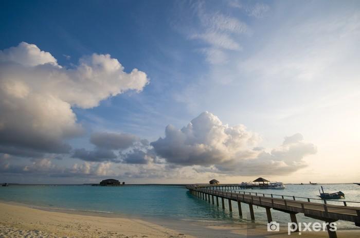 Vinyl-Fototapete Maldives-Meerblick - Urlaub