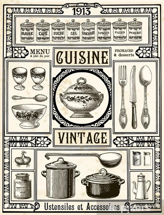 Papier Peint Cuisine Vintage Pixers Nous Vivons Pour Changer
