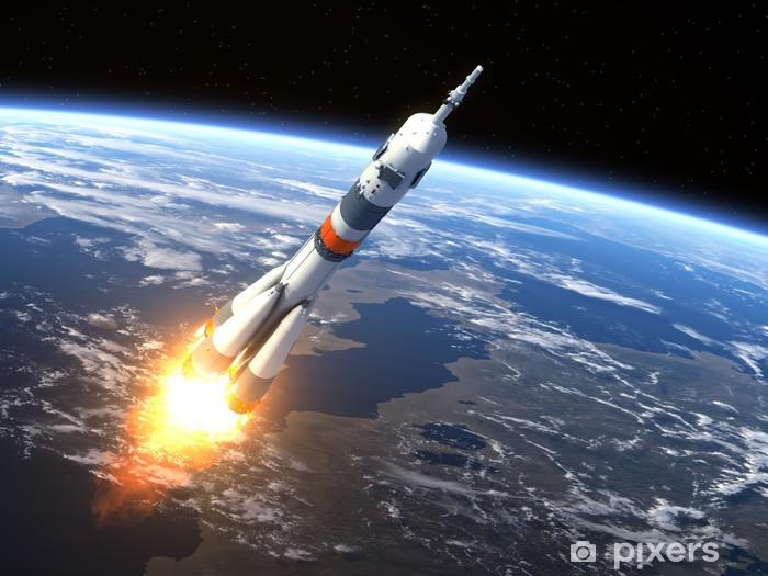 "Carrier rocket ""Soyuz-FG"" Launching Vinyl Wall Mural - Destinations"