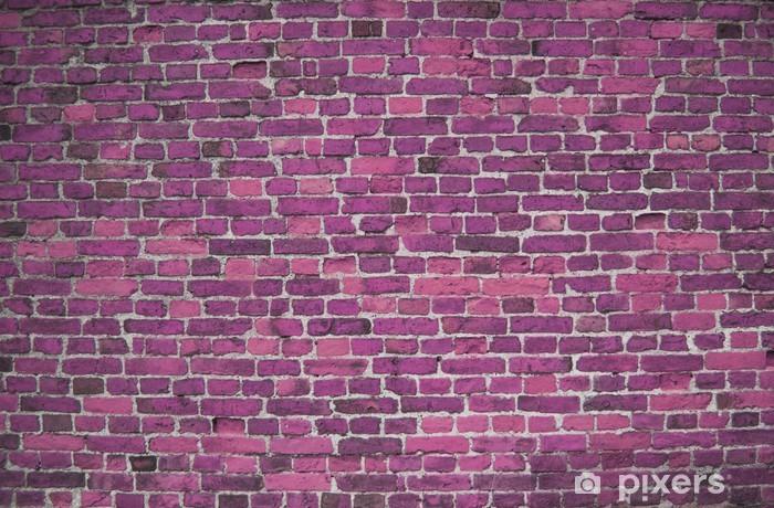 Purple Lilac Brick Wall Background Wallpaper Bricks Sticker Pixerstick