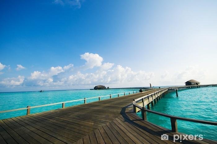 Papier peint vinyle Pont de la station Maldives - Vacances