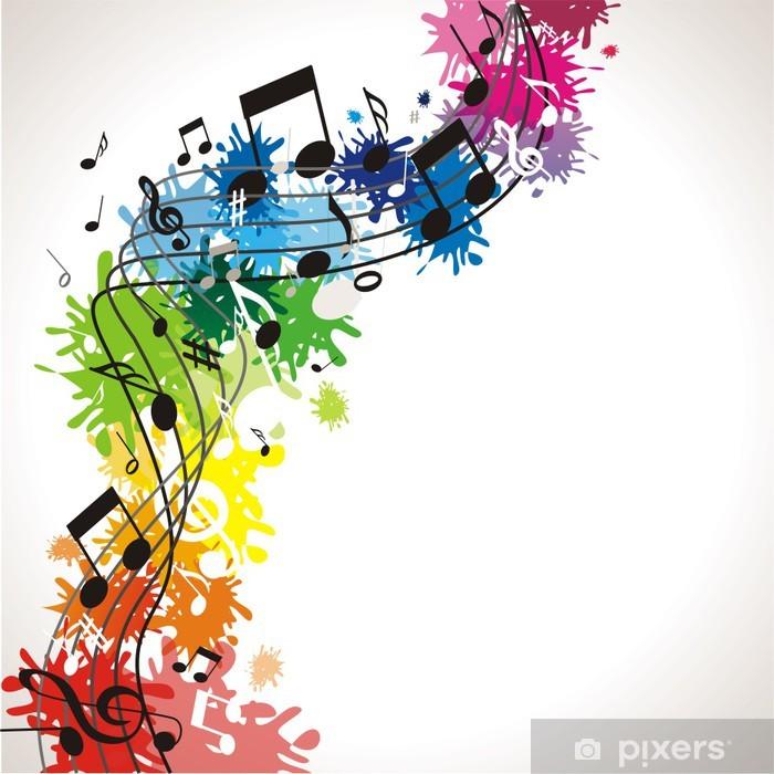 Poster Bunter musikalischer Hintergrund - Musik