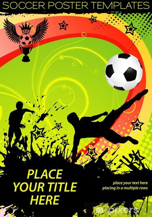 Naklejka Pixerstick Piłka nożna plakat - Sporty drużynowe
