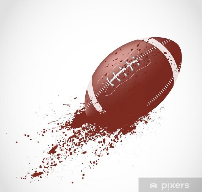 Papier peint vinyle Conception du football américain - Rugby