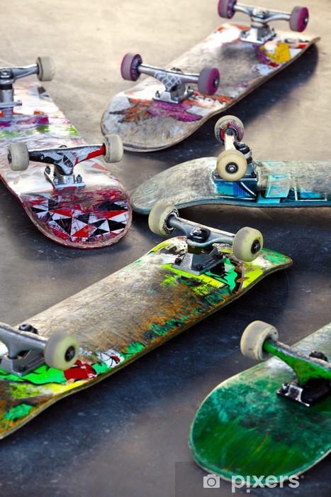 Old Skateboards Vinyl Wall Mural - Skateboarding