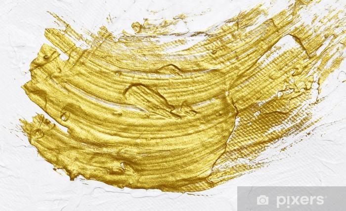 Carta Da Parati Bianco E Oro Pittura Acrilica Con Texture Di Sfondo