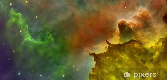 Colored clouds in Carina nebula. Pixerstick Sticker - Outer Space