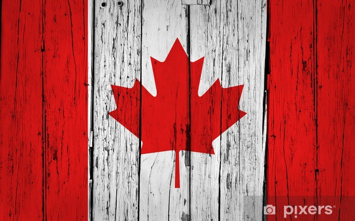 Sticker Pixerstick Le drapeau du Canada Grunge Background - Thèmes