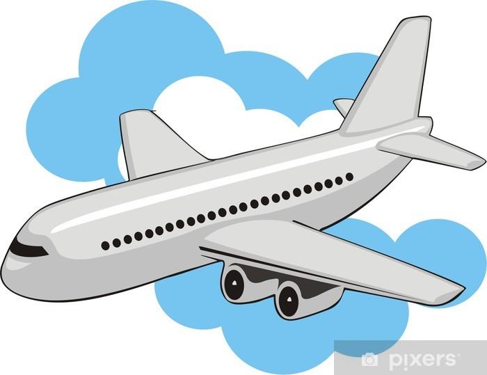 Sticker Pixerstick Avion d'air dans les nuages - Dans les airs