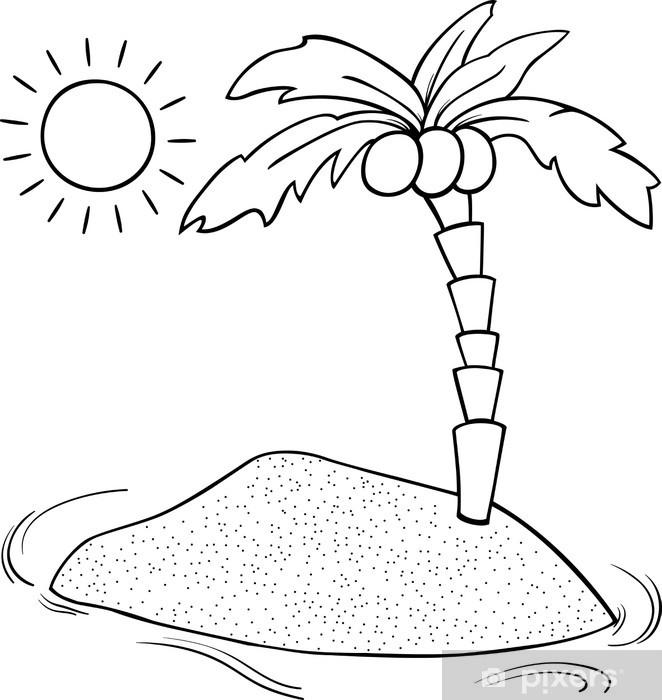 Fototapete Einsamen Insel Cartoon Malvorlagen Pixers Wir Leben