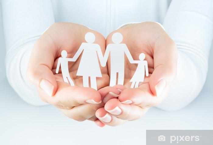 Pixerstick Dekor Händer kvinna uttrycker begreppet familjen - Familjeliv