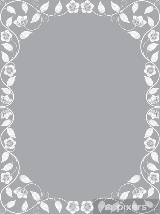 Papier peint vinyle Vintage floral frame. Motif décoratif - Signes et symboles