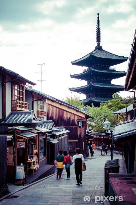Papier peint vinyle Tour de la pagode du Temple Toji à Kyoto - Asie