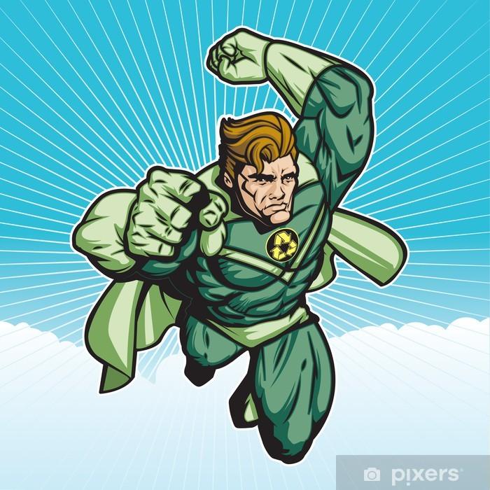Poster Recycler héros avec cape 6 - Thèmes