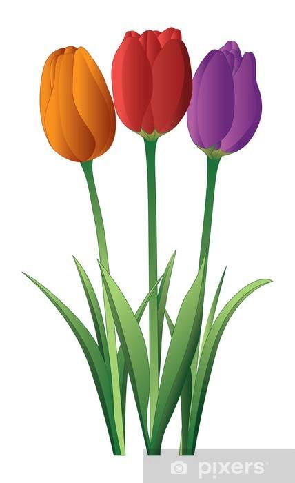 Nálepka Pixerstick Tulips - Květiny