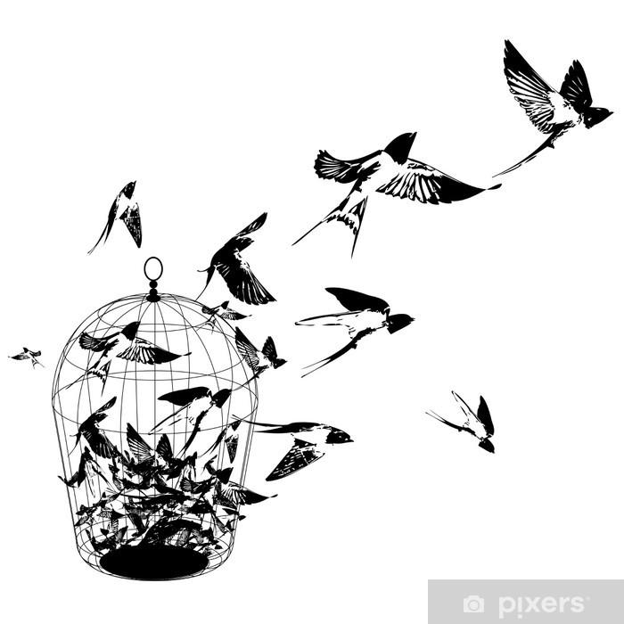 Pixerstick Sticker Vogels - Muursticker