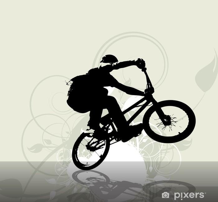 Papier peint vinyle Cycliste BMX. Vecteur - Cyclisme