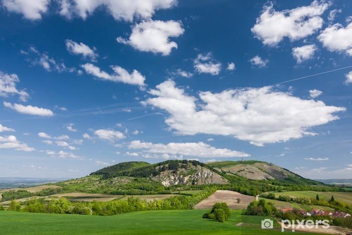 Carta da Parati in Vinile Campagna Spring - colline Palava - Repubblica Ceca - Cielo