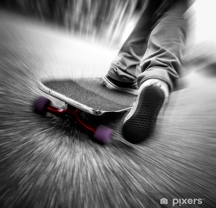 Skateboarder Pixerstick Sticker - Skateboarding