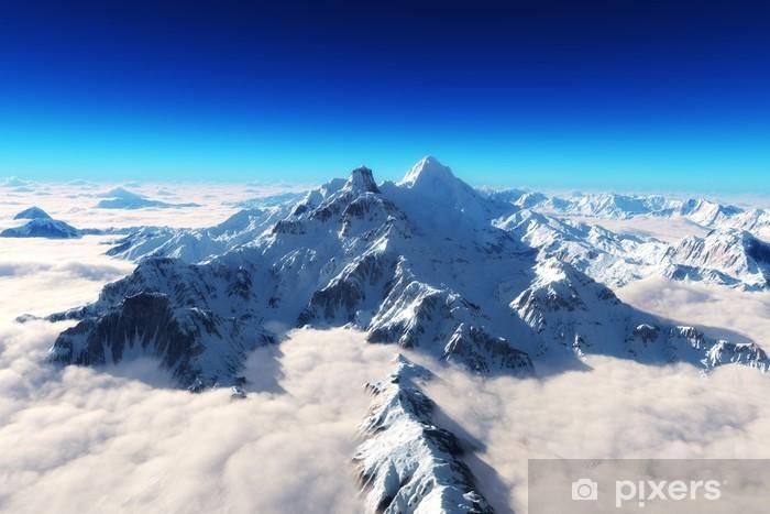 Fototapeta winylowa Majestatyczne ośnieżone góry w tle - Niebo