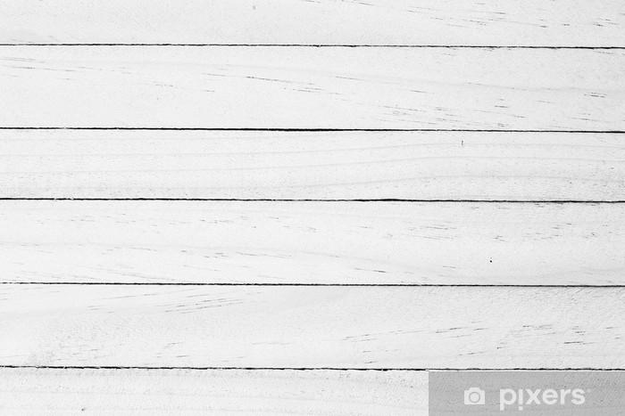 Vinil Duvar Resmi Beyaz ahşap arka plan -