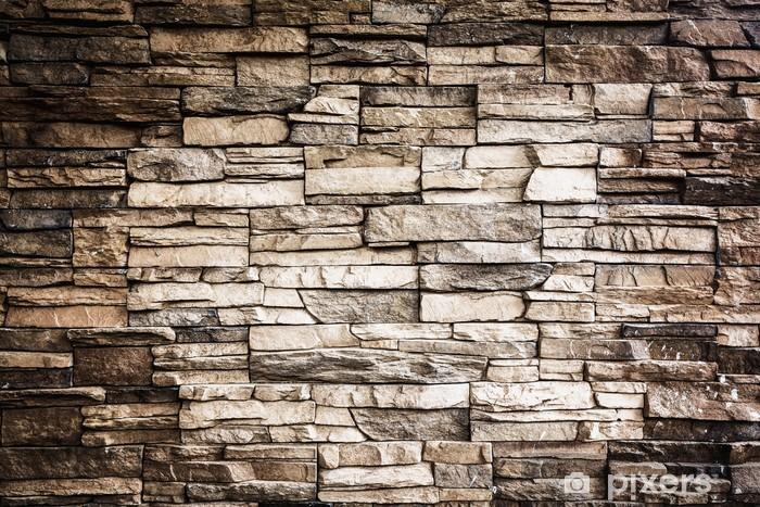 Nálepka Pixerstick Pozadí kamenné zdi textury fotografii - Těžký průmysl
