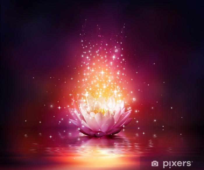Fototapeta winylowa Magiczny kwiat na wodzie - Do salonu SPA & Wellness