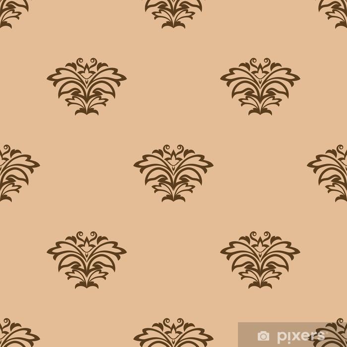 Fototapeta winylowa Beżowy kwiatowy szwu tła - Tła