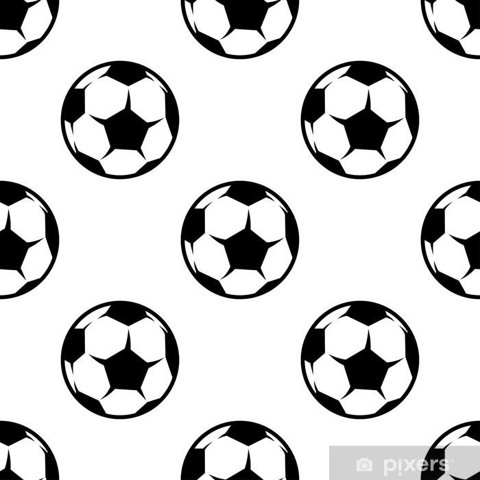 Fototapeta zmywalna Piłka nożna czy piłka nożna bez szwu wzór - Tła