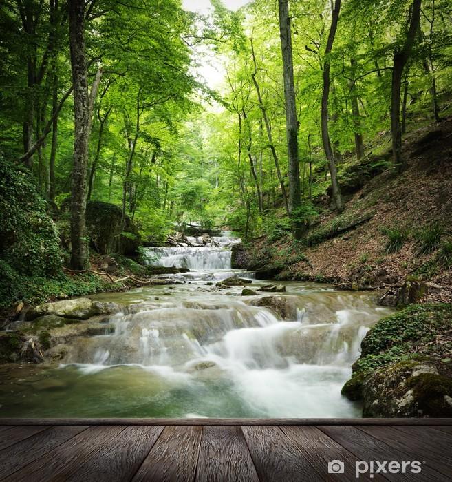 Fototapeta winylowa Wodospad las - Tematy